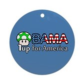Obama 1up for America Ornament (Round)