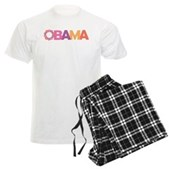 Obama Flowers Men's Light Pajamas
