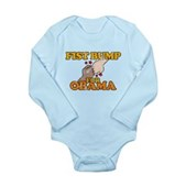 Fist Bump for Obama Long Sleeve Infant Bodysuit