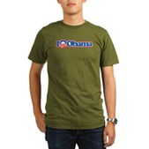 I Love Obama Organic Men's T-Shirt (dark)