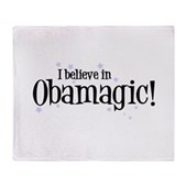 I Believe in Obamagic Stadium Blanket