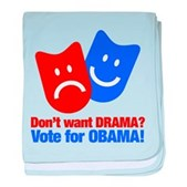 Vote Obama: No Drama! baby blanket