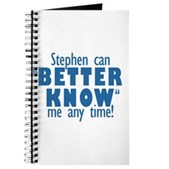 Stephen Can Better Know Me Journal