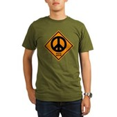 Peace Ahead Organic Men's T-Shirt (dark)