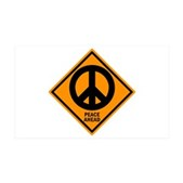 Peace Ahead 38.5 x 24.5 Wall Peel