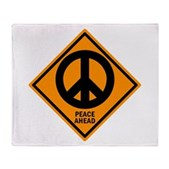 Peace Ahead Stadium Blanket