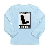 Content Rated Liberal Long Sleeve Infant T-Shirt