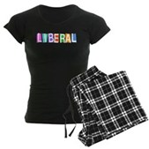 Colorful Retro Liberal Women's Dark Pajamas