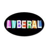 Colorful Retro Liberal 38.5 x 24.5 Oval Wall Peel