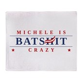 Michele is Batshit Crazy Stadium Blanket