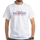 Anti-Bachmann Irony White T-Shirt