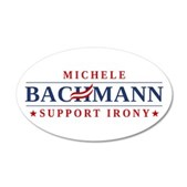 Anti-Bachmann Irony 38.5 x 24.5 Oval Wall Peel