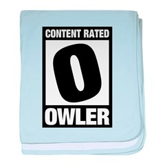 Content Rated Owler baby blanket