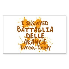 Ivrea Battle Of The Oranges Souvenirs Gifts Tees Sticker (Rectangle)