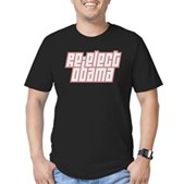 Re-Elect Obama Men's Fitted T-Shirt (dark)