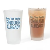 Hey, Tea Party Drinking Glass