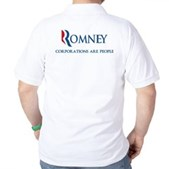 Anti-Romney Corporations Golf Shirt