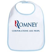 Anti-Romney Corporations Bib