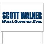 Worst. Governor. Ever. You need not say more with this bold anti-Scott Walker design. A lot of people would like to recall or impeach the Wisconsin Republican, and you're one of them.