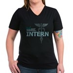 Seattle Grace Intern Women's V-Neck Dark T-Shirt