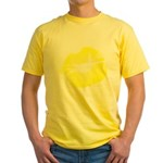 Big Yellow Lips Yellow T-Shirt