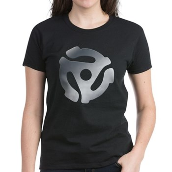 Silver 45 RPM Adapter Women's Dark T-Shirt