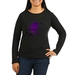 Purple Spider Women's Long Sleeve Dark T-Shirt