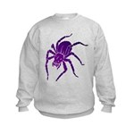 Purple Spider Kids Sweatshirt