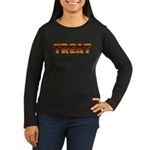 Glowing Treat Women's Long Sleeve Dark T-Shirt