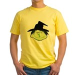 Happy Green Witch Yellow T-Shirt