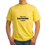 this is my bartender costume Yellow T-Shirt