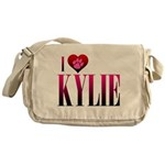 I Heart Kylie Canvas Messenger Bag