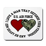 Air Force I love a man ... Mousepad