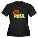 I Heart Peta Murgatroyd Women's Dark Plus Size V-N