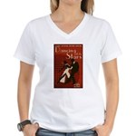 Distressed Retro DWTS Poster Women's V-Neck T-Shirt