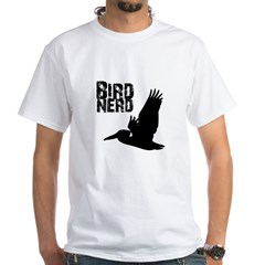 Bird Nerd (Pelican) White T-Shirt