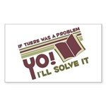 Yo! I'll Solve It Rectangle Sticker