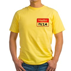 My Name is Prim - Hunger Games fan t-shirts Yellow T-Shirt