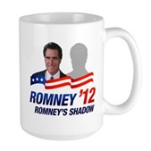 Anti-Romney Shadow Large Mug