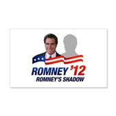 Anti-Romney Shadow 20x12 Wall Decal