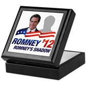 Anti-Romney Shadow Keepsake Box