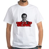 Anti-Romney: Unfit To Serve White T-Shirt