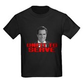 Anti-Romney: Unfit To Serve Kids Dark T-Shirt
