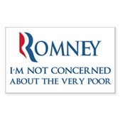 Anti-Romney: Very Poor Sticker (Rectangle)