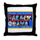 Greetings from the President Throw Pillow