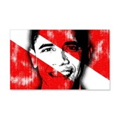 Divers for Obama 20x12 Wall Decal