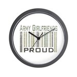 Military Army Girlfriends Proud Wall Clock