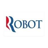 Anti-Romney ROBOT 35x21 Wall Decal
