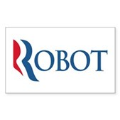 Anti-Romney ROBOT Sticker (Rectangle)