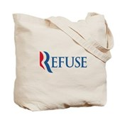 Anti-Romney Refuse Tote Bag